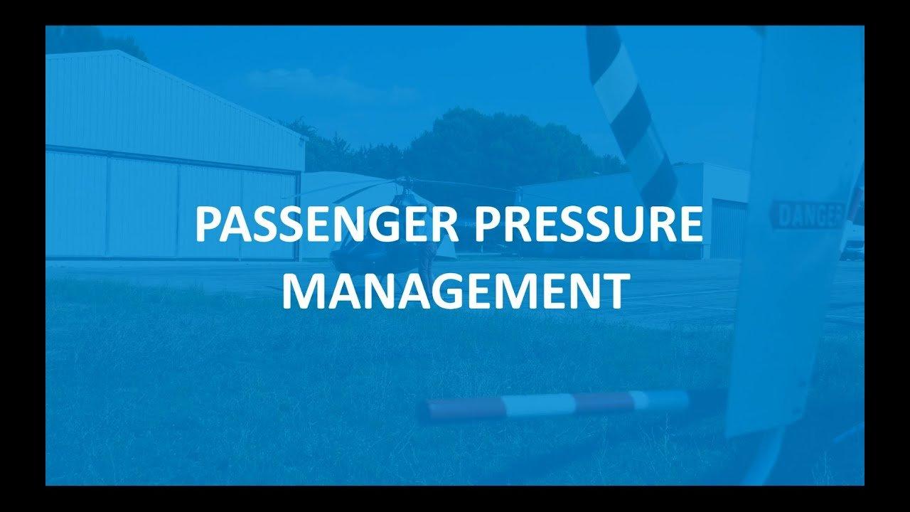 Passenger Pressure Management (EASA)
